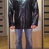 Мужской кожаный пиджак куртка 54-56р 4XL