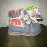 Детские демисезонные ботинки для мальчика Тм Шалунишка ортопед 20 р