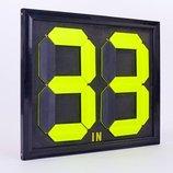 Табло замены игроков 2911 размер 44x39см, двухсторонее