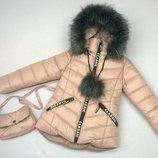 Зимняя куртка для девочки 128,134, 140,146.