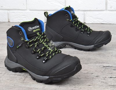 ee19ae28 Кожаные термо ботинки зима мужские трекинговые с защитой носка усиленная  модель