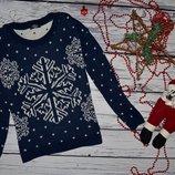 S - М Стильный теплый зимний свитер с снежинками Pura Moda