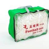 Сетка на ворота футбольные любительская узловая 5370 PE 2мм, ячейка 14х14см