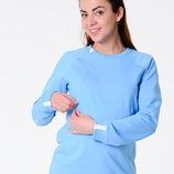 Удобный удлиненный свитшот для беременных и кормящих мам из футера
