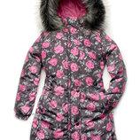 Куртка-Пальто зимняя для девочки 4 - 9 лет
