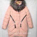Пальто зимнее для девочек 9-13 лет 4942