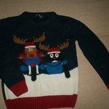 Новогодний свитер с бубенчиками Маталан 6-7л
