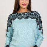 Трикотажный джемпер свитшот блуза для беременных и кормящих Lesta