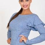 Трикотажный джемпер свитшот блуза для беременных и кормящих Dora