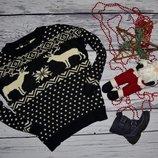 М 12 40 38 фирменный новогодний свитер с орнаментом олень ASOS