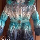 Курточка-Пуховик для девочки рост 134-140