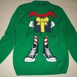 Новогодний свитер George 9-10л