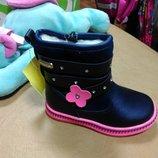 Зимние ботинки на девочку 21-26 р, шерсть, сапоги, сапожки, дівчинку, зимові, зима, ботінки
