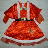 Новогоднее платье помощницы Санты Ladybird 2-3 года