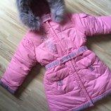 Зимнее пальто для девочки Kiko оригинал