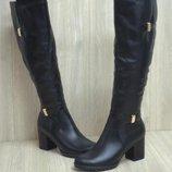 Женские кожаные сапоги зима 36-41 р р