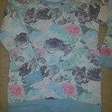 Нежный нарядный свитер кофта в розы на 10-12 лет H&M