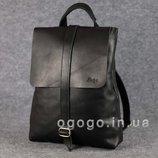 Черный кожаный рюкзак-трансформер K00016-3