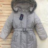 Зимняя удлиненная куртка пальто MMDadak на флисе, р. 104, 110, 116, 122, 134