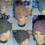 Agbo модные зимние шапки на флисе,р-р универсальный 52-58,Польша