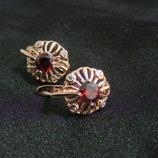 медицинское золото/медичне золото сережки позолота, розмір 15Х12мм