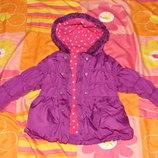 Куртка на зиму для девочки на 1-2 года