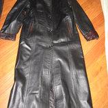 Кожаное длинное женское пальто, плащ Eraylar