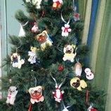 Игрушки на елку из фетра. Елочные игрушки