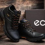 Зимние мужские ботинки Natural Motion, черные, натуральная кожа,