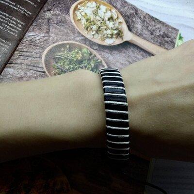 Многоцветный завернутый кожаный браслет