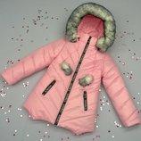 Зимнее пальтишко на девочку, разные цвета. 92,98,104,110,116р.