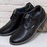 Туфли облегченные мужские натуральная кожа р.40-45