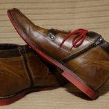 Эффектные современные кожаные ботинки Roberto Santi Италия. 41 р.