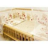 детское постельное белье комплект набор постельный в кроватку простынь наволочка пододеяльник