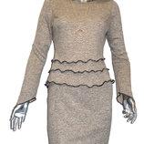 Трикотажный костюм с юбкой.Новинка.