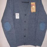Джемпер мыс серо-голубой с латкой PANDA рост 140 - 164