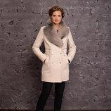 Супер-Цена Шикарное зимнее пальто с натуральным мехом