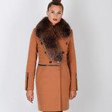 Супер Цена Шикарное зимнее пальто с натуральным мехом