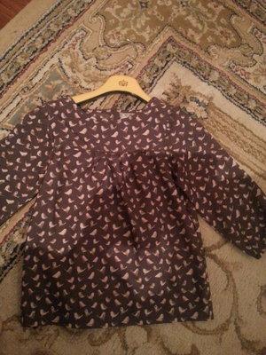 Шикарная блузочка с птичками от Next 116-122-128
