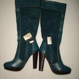 Next Новые кожаные сапоги Некст, р 39, стелька 25,5 см, сделаны в Португалии,новые, с этикеткой