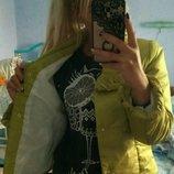 Демисезонная курточка, С р, цветом олива
