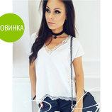 Женская блуза с кружевом Есения
