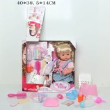 Кукла-Пупс с волосами интерактивный с аксессуарами горшком закрывает глазки 30700F