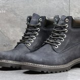 Ботинки зимние Timberland dark blue, нубук