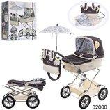 Романтик Реборн 82000 кукольная колясочка с зонтиком DeCuevas Classic