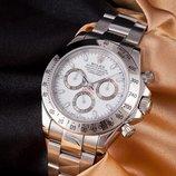 Часы Rolex Daytona silver withe