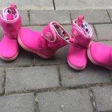 Сапожки сапоги ботинки ботиночки Crocs для близняшек