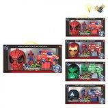 Мстители. Avengers. Крутые наборы Халк, Человек-Паук, Капитан Америка, Железный человек.
