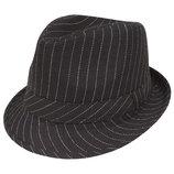 Карнавал Черная войлочная полосатая гангстерская шляпа Мафия