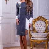 Красивое теплое платье -трансформер 917